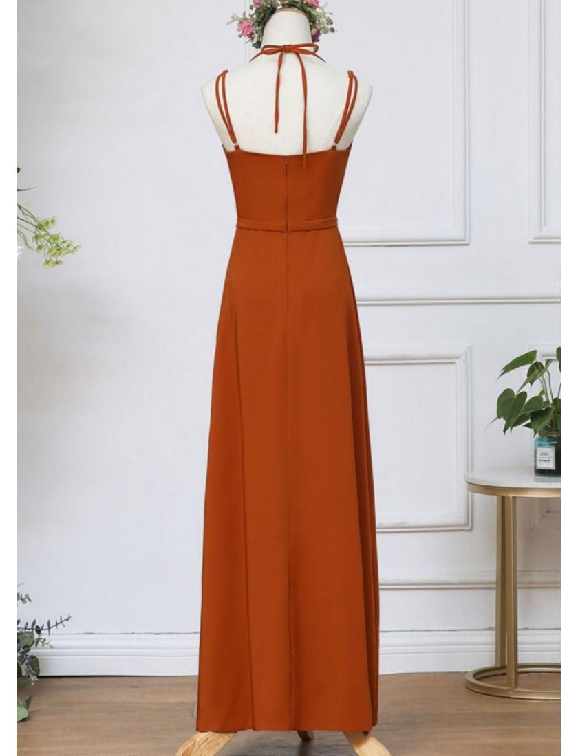 Fleurine Dress (Rust Orange)