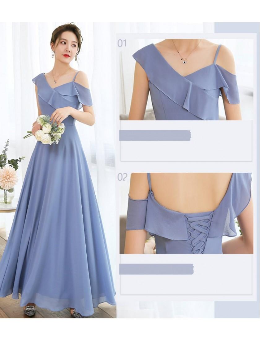 Helena Dress (Dusty Blue)