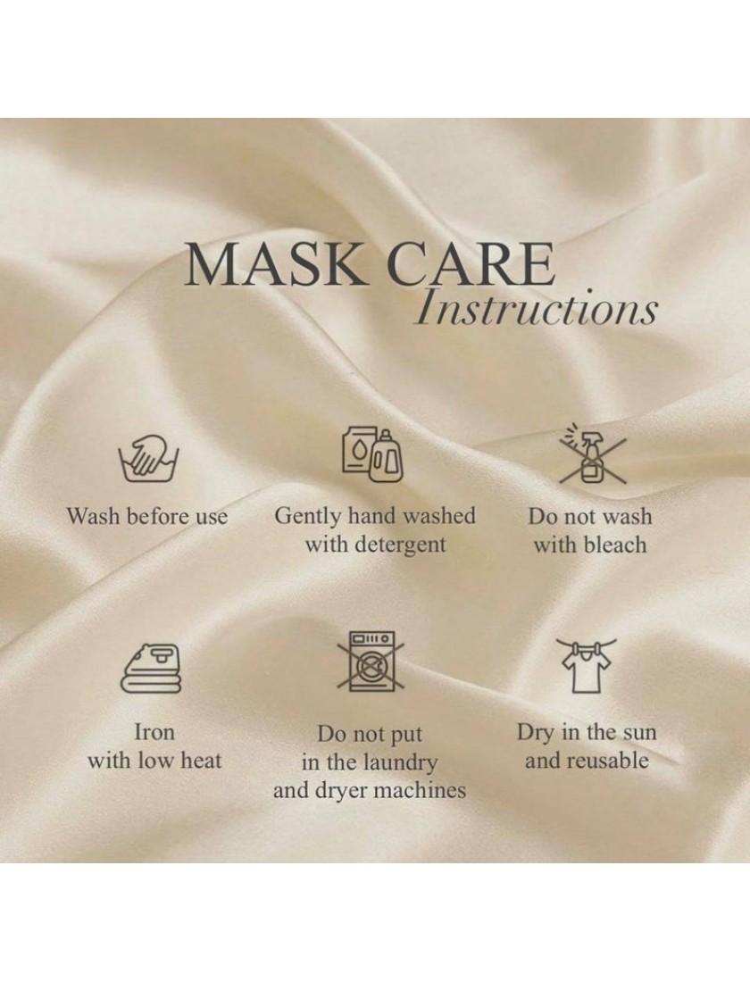 Waverly | Bridesmaids & Groomsmen Satin Face Masks (BUY 4 FREE 1)