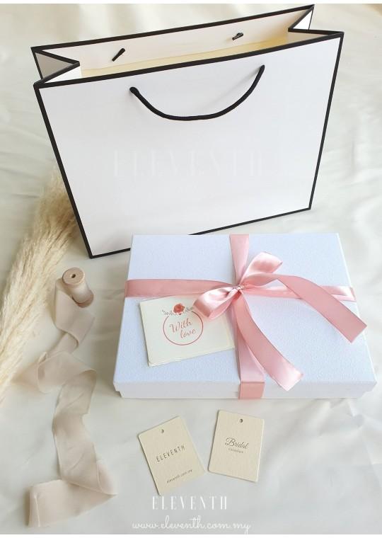 Gifting Option | White Box with Sakura Pink Ribbon