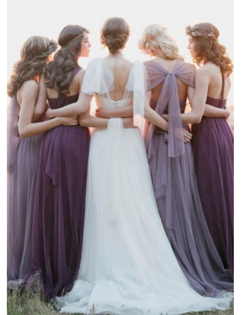 Mirella Convertible Dress (Dark Purple)