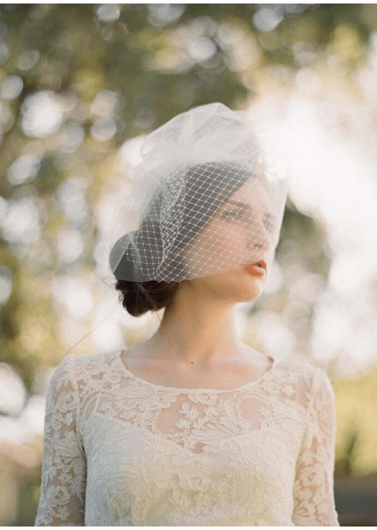 Reese Veil | Double Layer Vintage Full Birdcage Veil