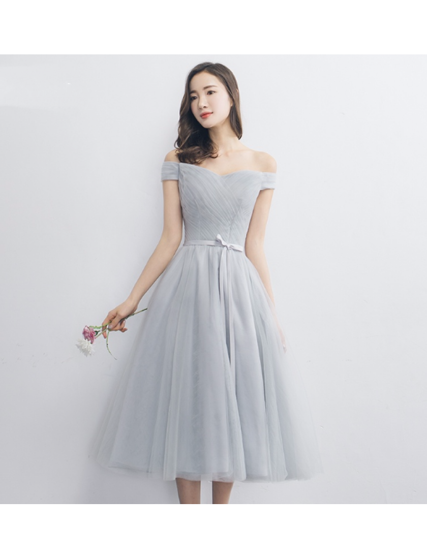 Janell Dress (Soft Grey)