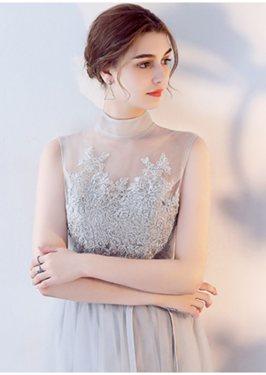 Abella Dress (Soft Grey)