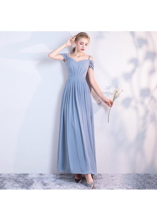 Leah Dress (Dusty Blue)