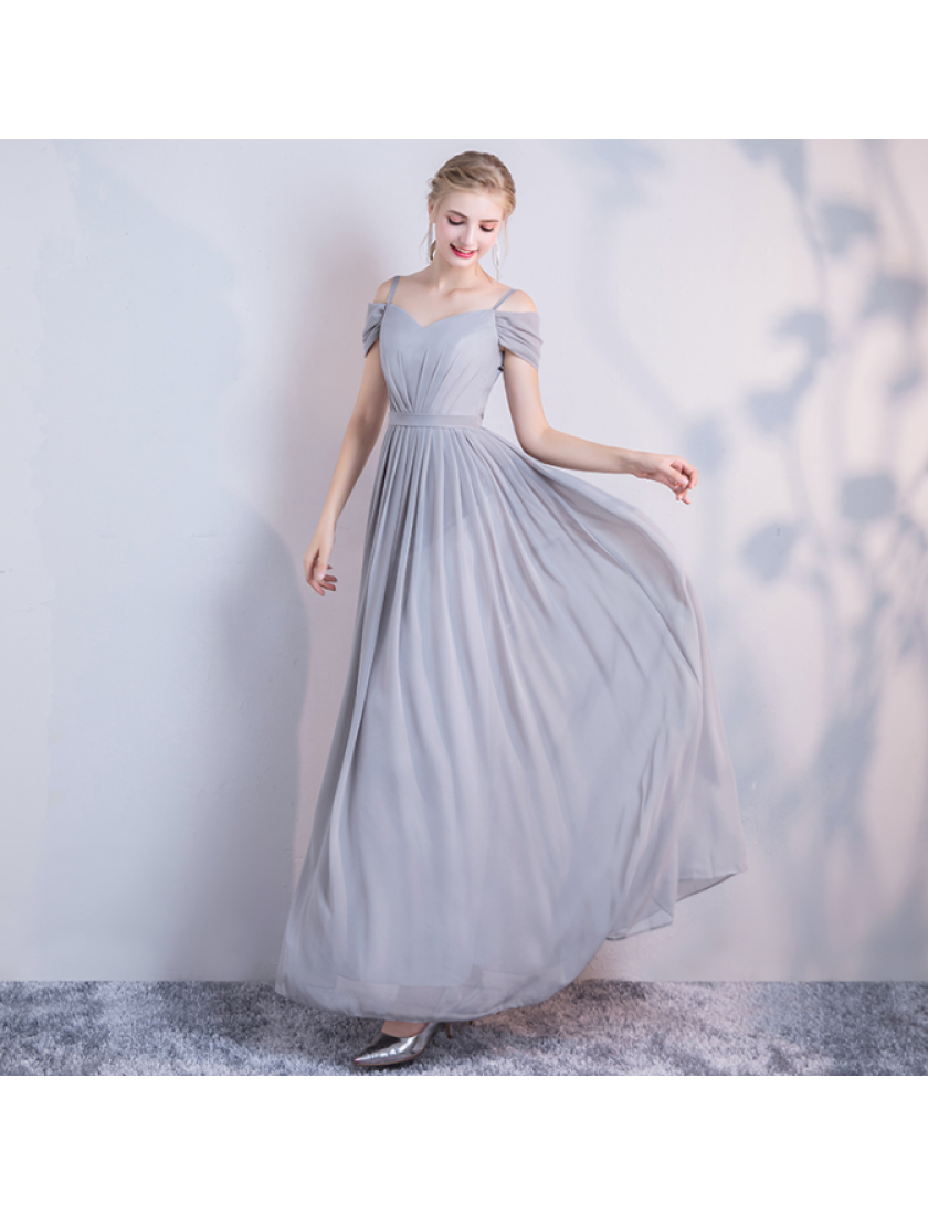Leah Dress (Soft Grey)