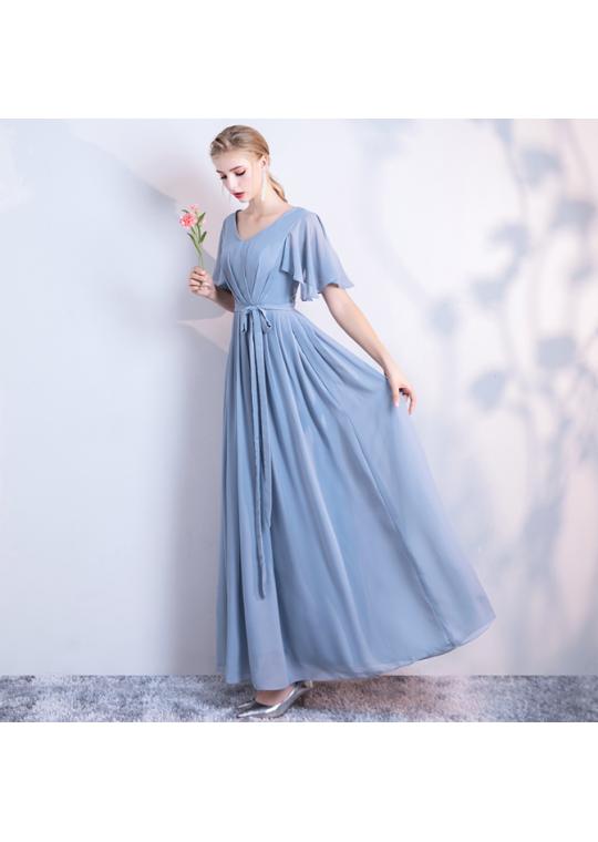 Molly Dress (Dusty Blue)