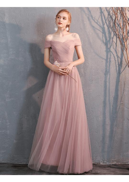 Bella Dress (Dusty Pink)