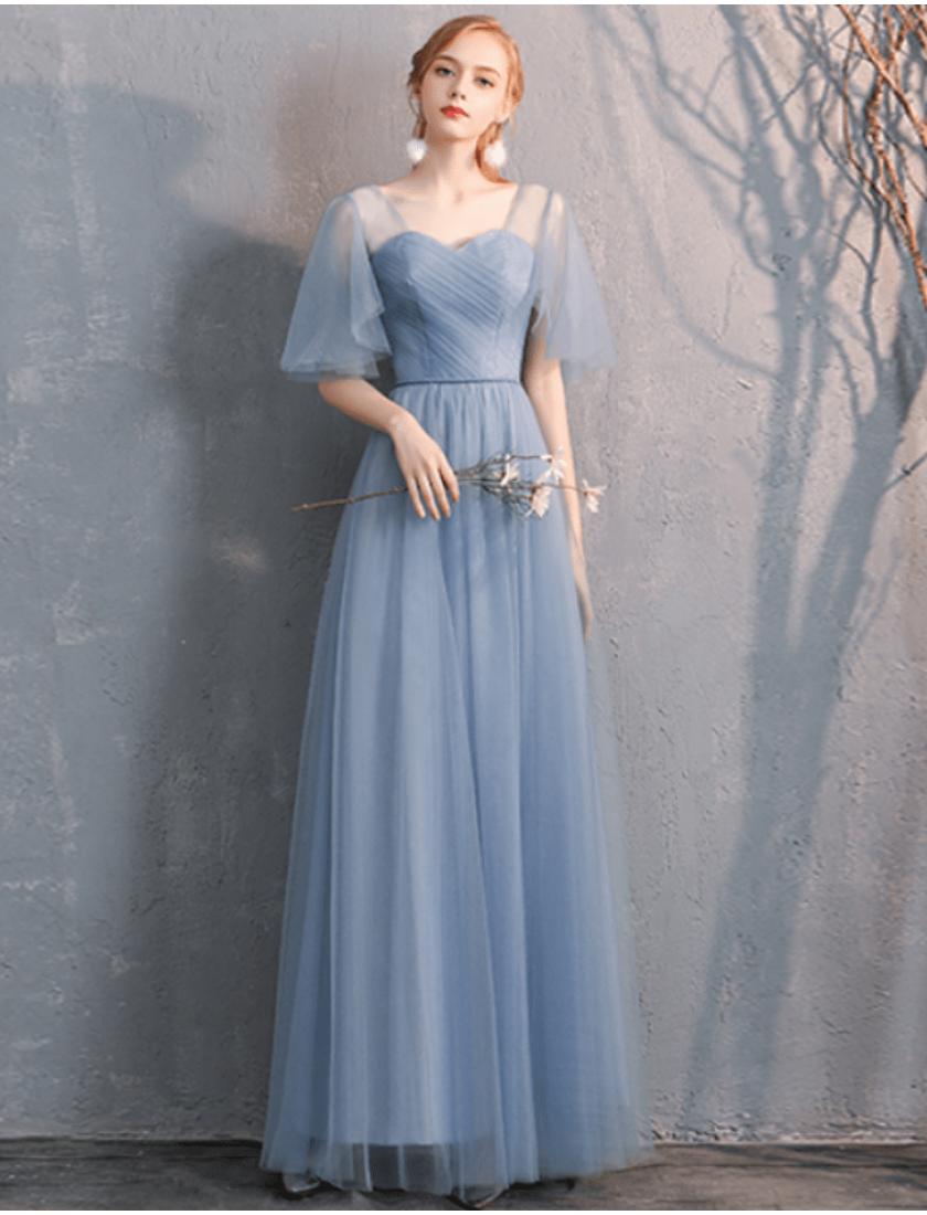 Gianna Dress (Dusty Blue)