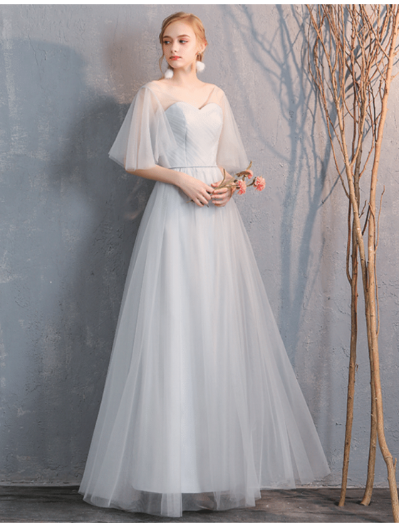 Gianna Dress (Light Grey)