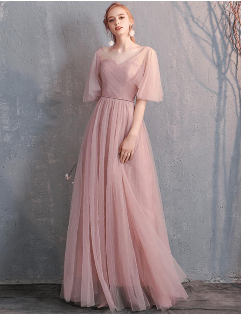 Gianna Dress (Dusty Pink)