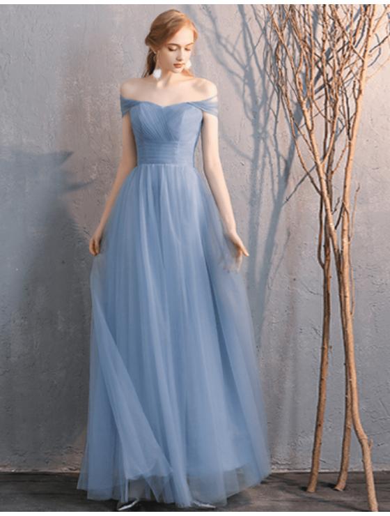 Sienna Dress (Dusty Blue)