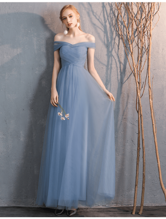 Arianna Dress (Dusty Blue)