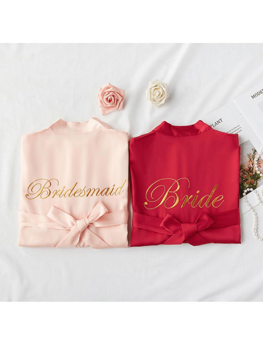 Iris Luxe Silk Robes (Blush Pink)