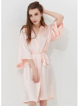 Iris Luxe Silk Robe (Petal Pink)
