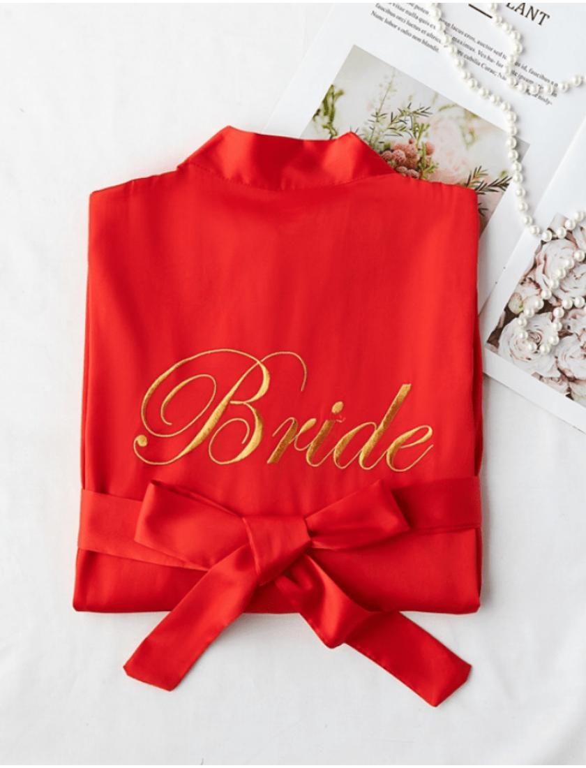 Iris Luxe Silk Robes (Red)