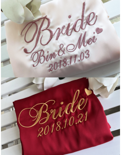 Iris Luxe Silk Robes (Personalized Embroidery)